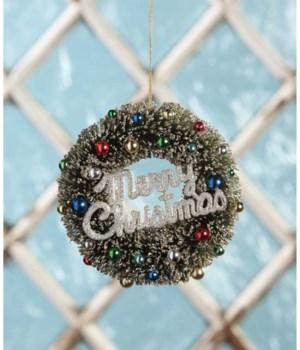 Merry Christmas Wreath Ornament