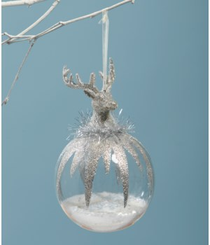 Platinum Stag Head Ornament