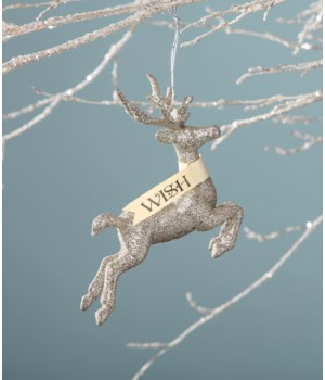 Platinum Stag Wish Ornament
