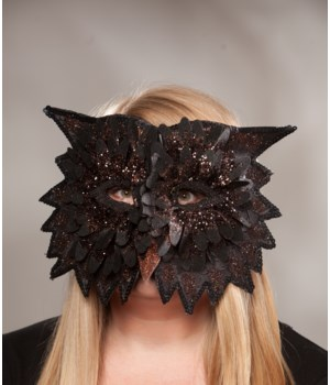 Midnight Owl Mask Black