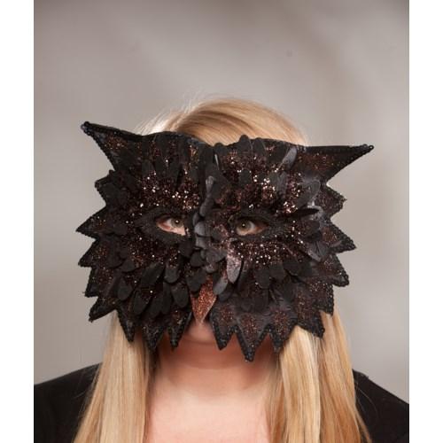 Midnight Owl Mask Black
