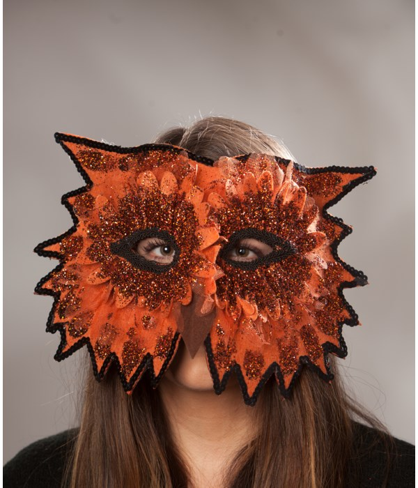 Midnight Owl Mask Orange