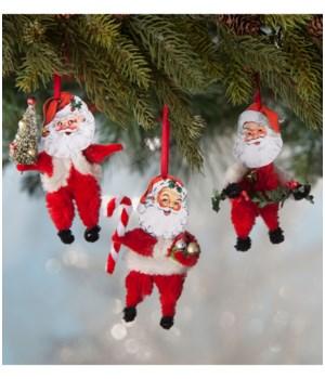 Chenille Santa Ornament 3/A