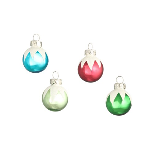 Merry & Bright Frosted Top Ornament S12