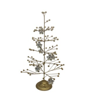 Peaceful Wire Tree With Star Ornament