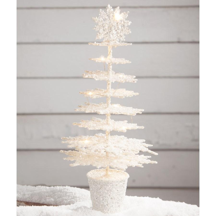 Winter White Snowflake Tree