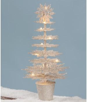 Platinum Snowflake Tree