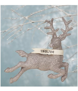Platinum Dream Stag Ornament Large