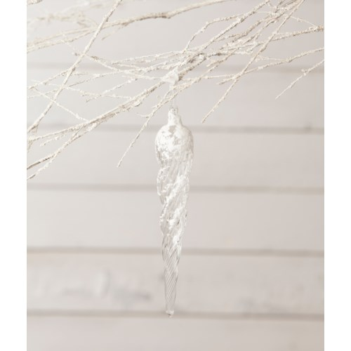 Frosty Morning Icicle Ornament 8""
