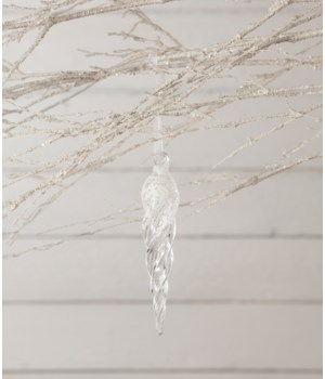 Frosty Morning Icicle Ornament 6""