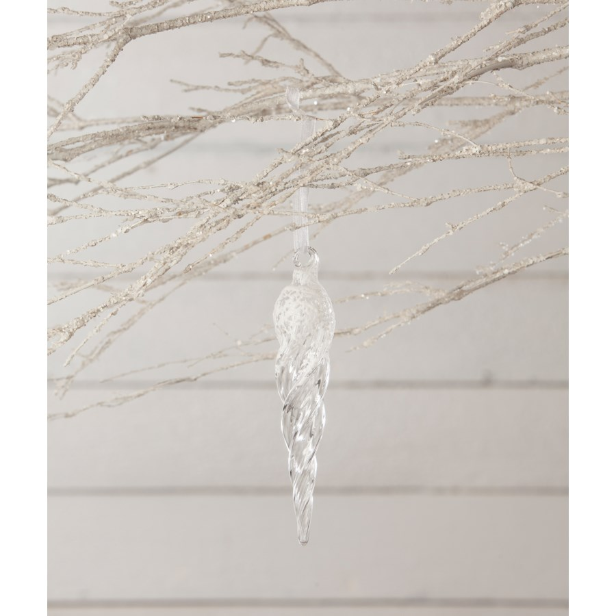 """Frosty Morning Icicle Ornament 6"""""""