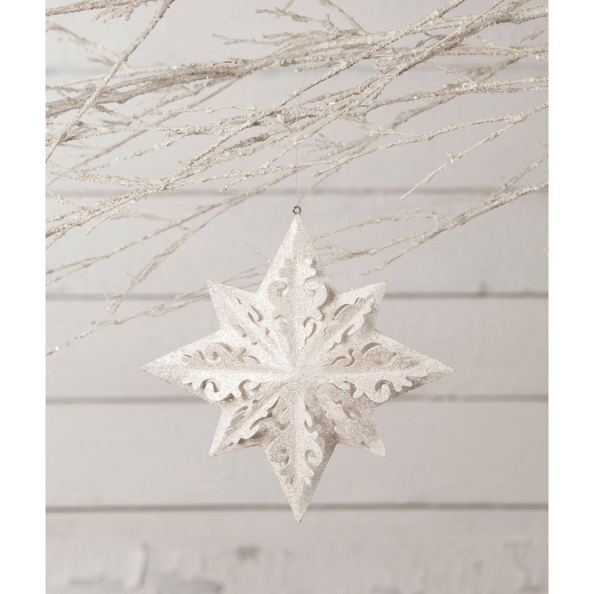 Winter White Paper Snowflake Ornament