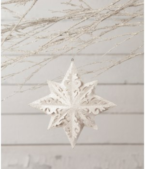 Winter White Paper Snowflake Ornament