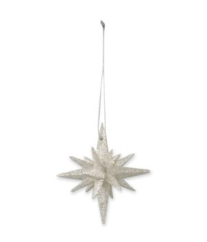 Platinum Sparkle Moravian Star S/6
