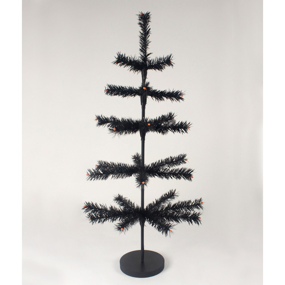 """Black Artificial Feather Tree 30"""""""