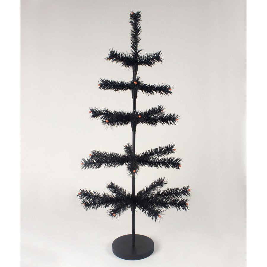 Black Artificial Feather Tree 30""