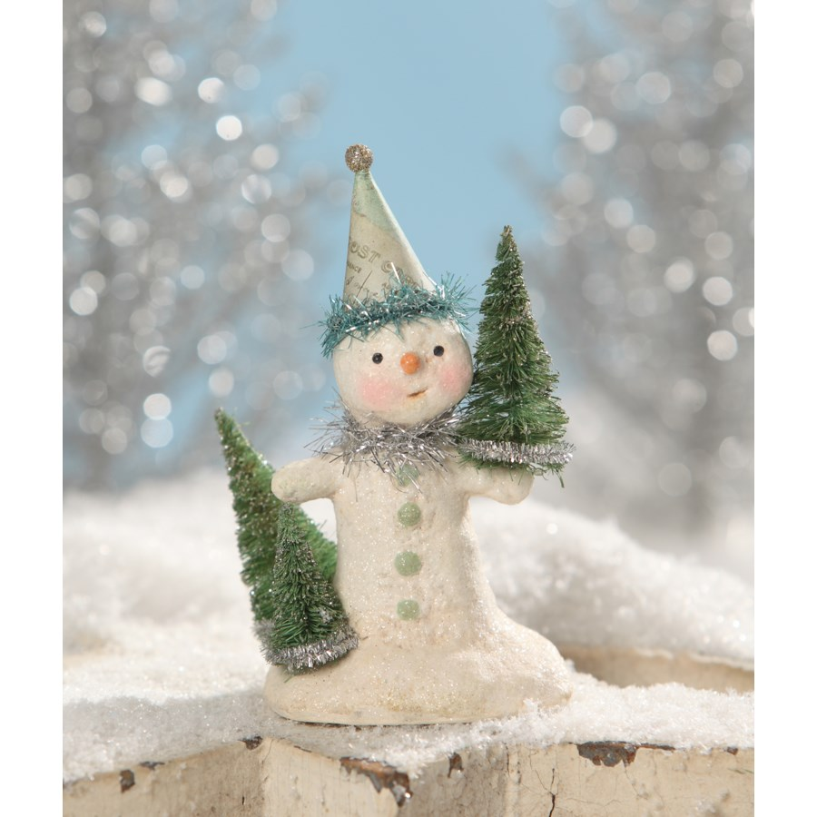 Party in Green Snowman