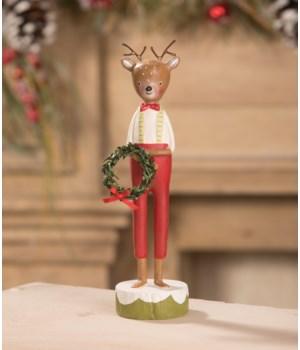 Reindeer Boy with Wreath