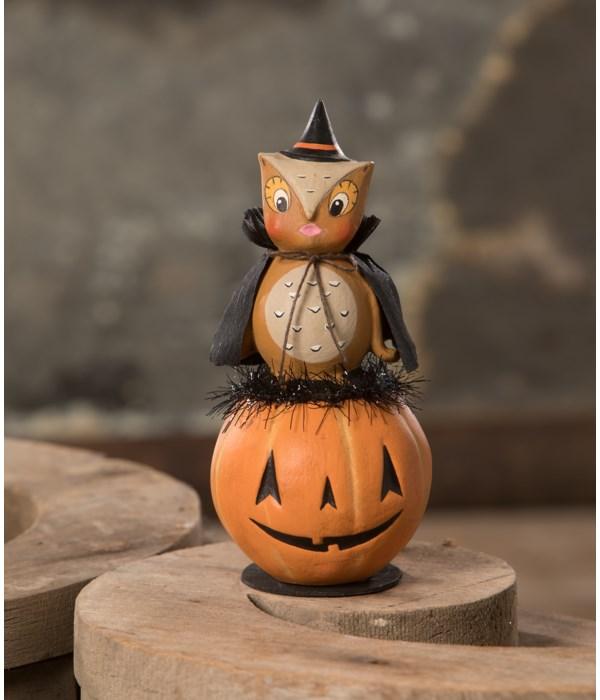 Hoot Owl on Jack O'Lantern