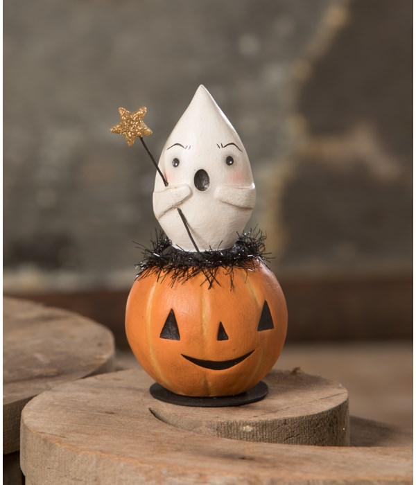 Spooked Ghost in Jack O'Lantern