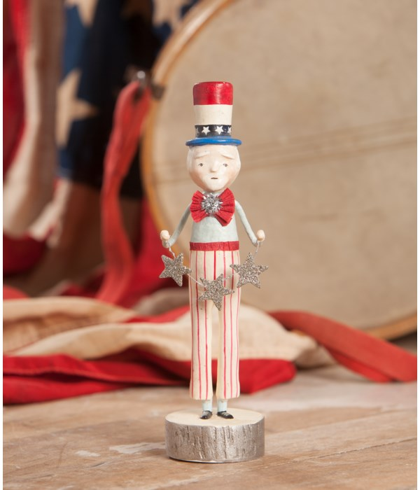Uncle Sam With Star Garland