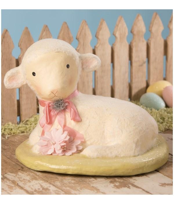 Precious Lamb Large Paper Mache