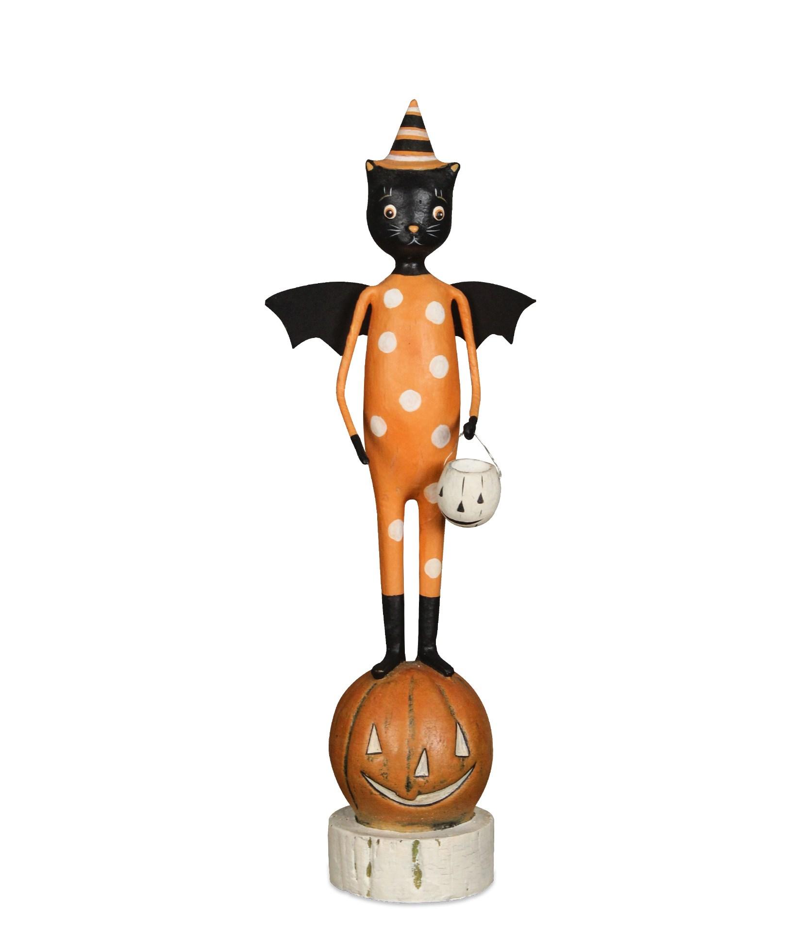 Bethany Lowe Sheet Ghost Jack Boy Little Black Cat Figurine Halloween Decor