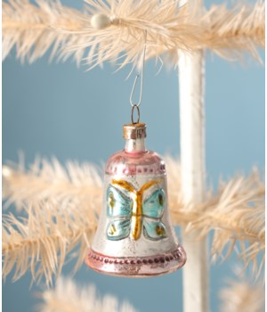 BELL WITH BUTTERFLY ORNAMENT