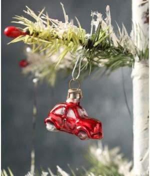 Tiny Red Car Ornament