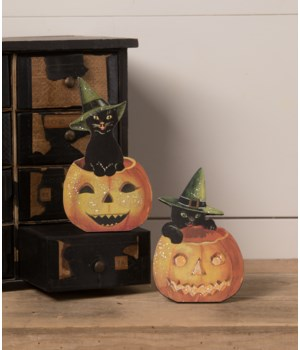 Black Cat in Jack O' Lantern Dummy Board 2A