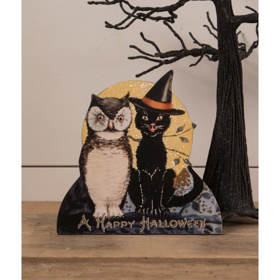 Black Cat and Owl Friends Dummy Board