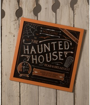 The Haunted House Dead and Breakfast Sign