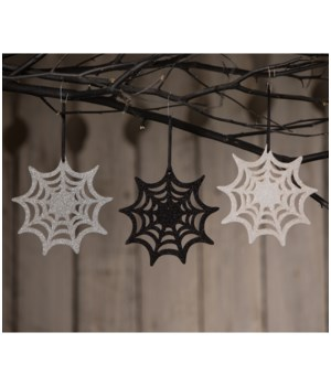 Glitter Spiderweb Ornament 3A
