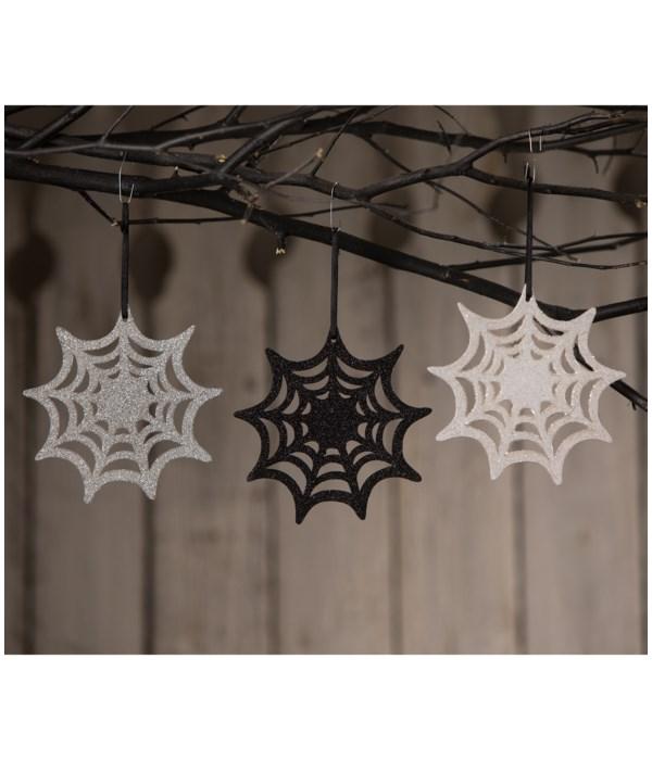 Glitter Spiderweb Ornament 3A