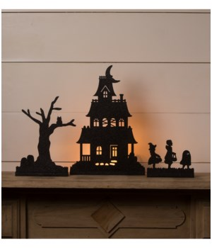 Halloween Village Silhouette Dummy Boards S3