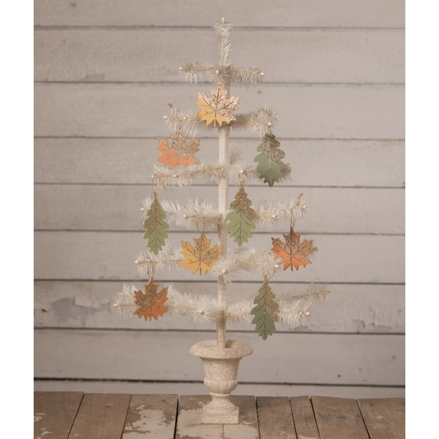 Elegant Fall Leaf Ornament 4A