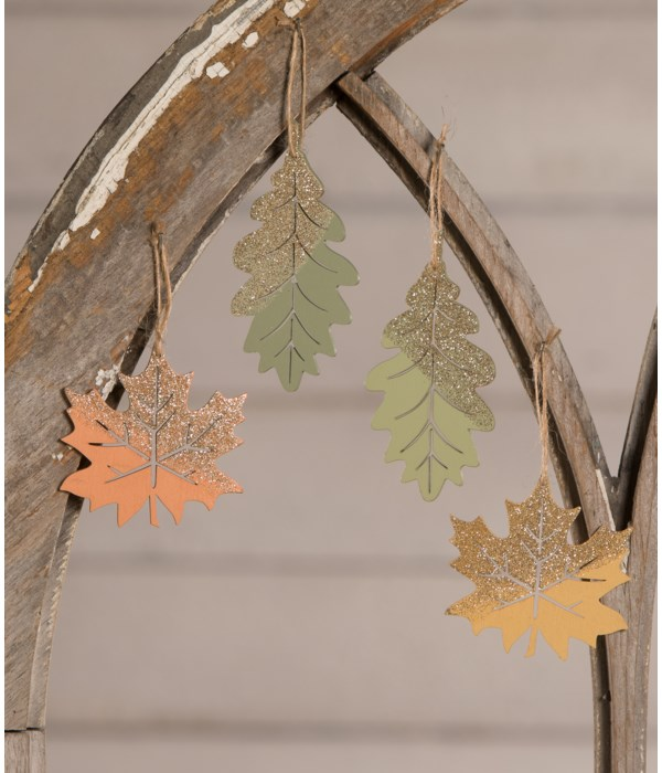 Elegant Fall Leaf Ornament 4A