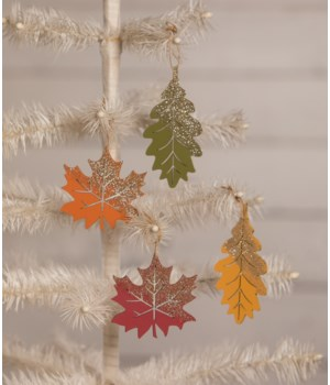Fall Harvest Leaf Ornament 4/A