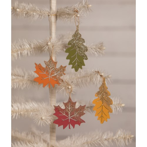 Fall Harvest Leaf Ornament 4A