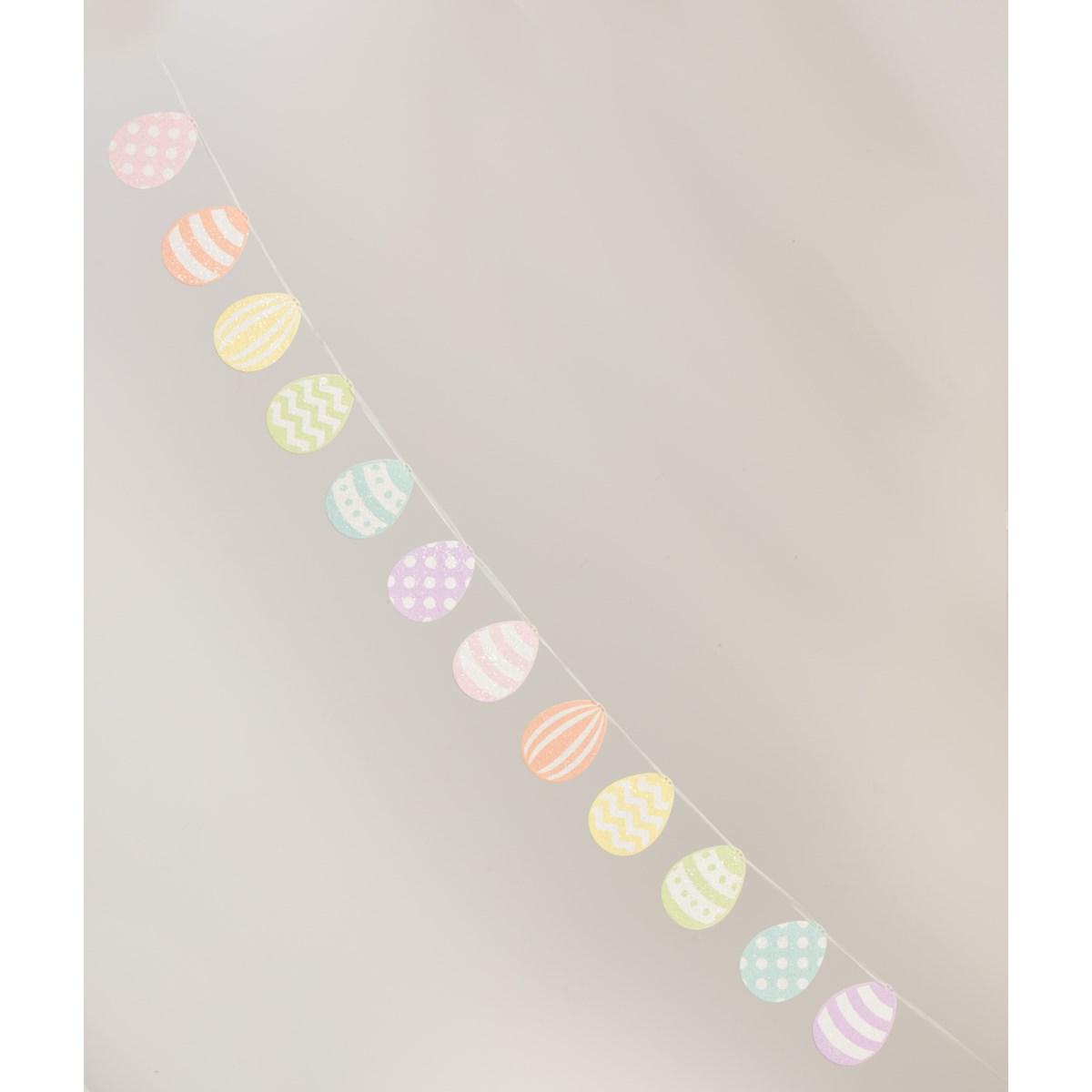 Spring Rainbow Egg Garland