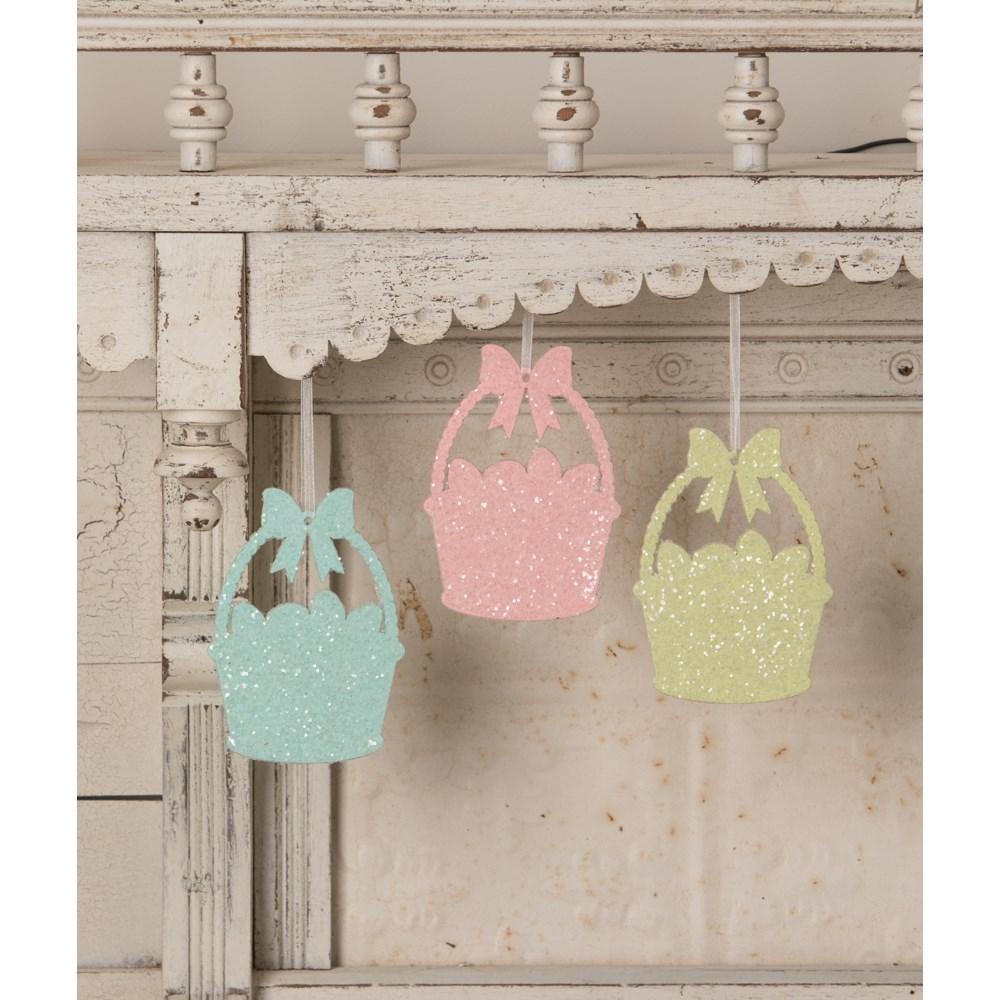 Egg Basket Glittered Ornament S3