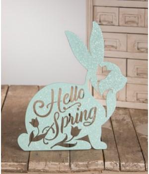 Hello Spring Bunny Sign