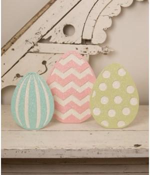 Glittered Standing Easter Eggs S3