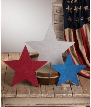 Americana Glittered Standing Stars S3