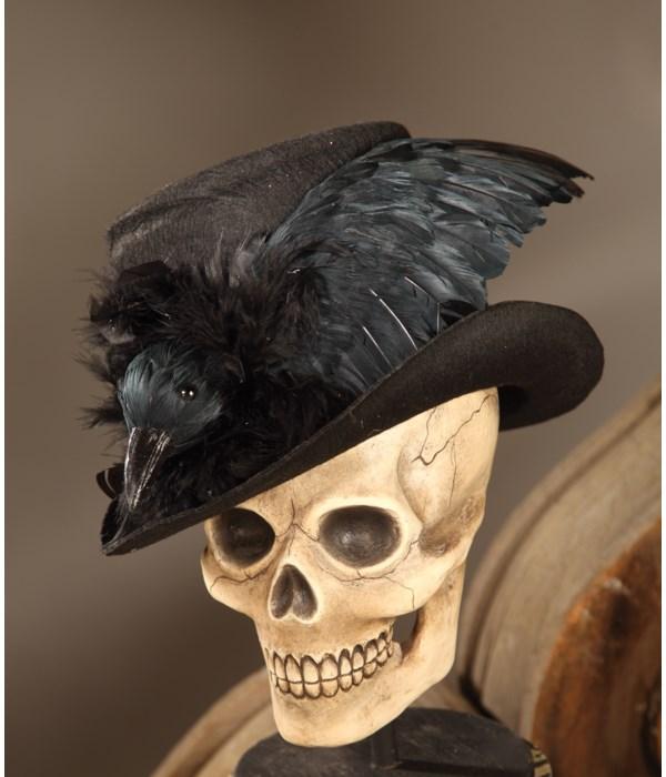 Haunted Raven Top Hat