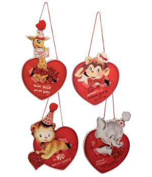 WILD ABOUT YOU VALENTINE ORNAMENT 4A