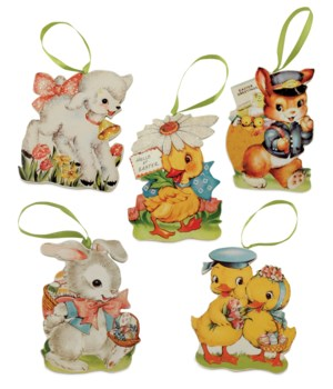 Retro Easter Die Cut Ornament 5A