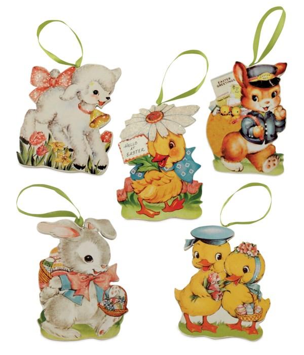 Retro Easter Die Cut Ornament 5A