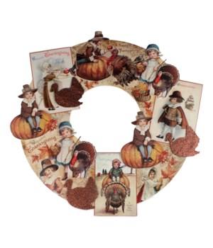 Thanksgiving Dummy Board Wreath