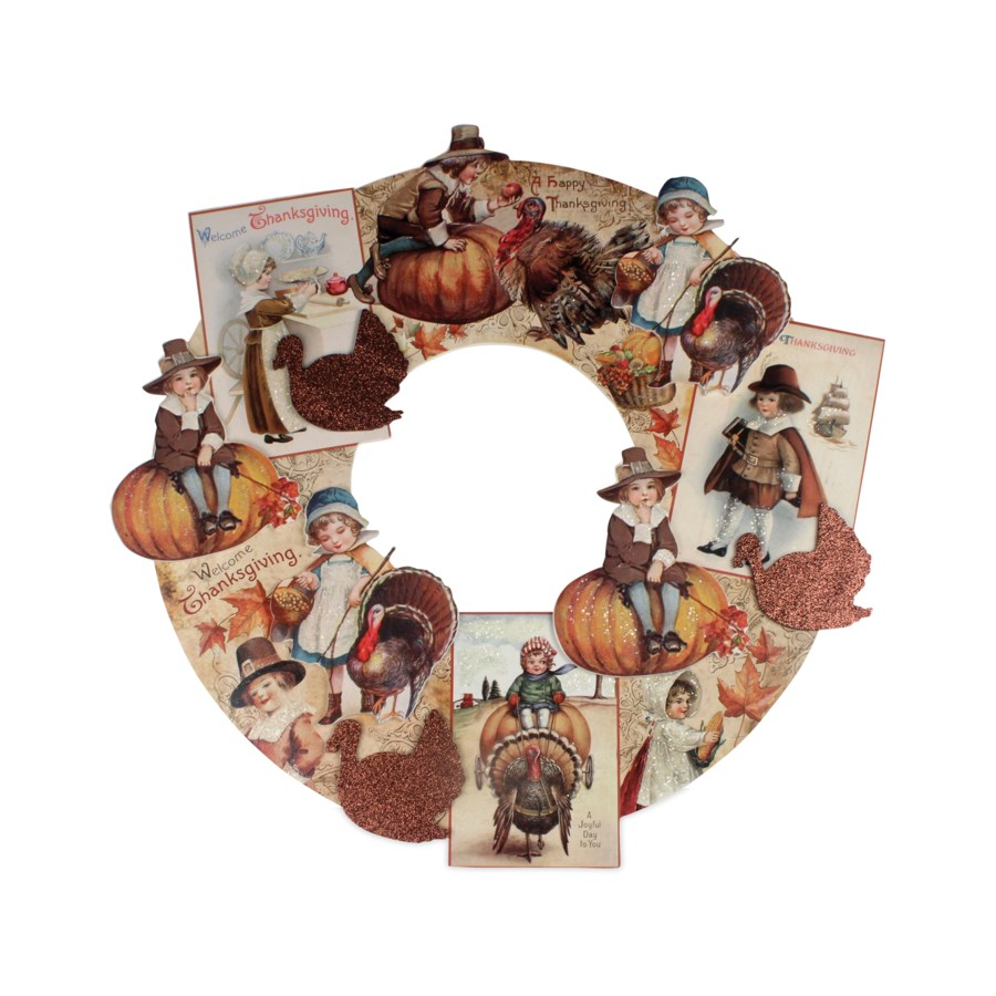 Thanksgiving Dummy Board Wreath